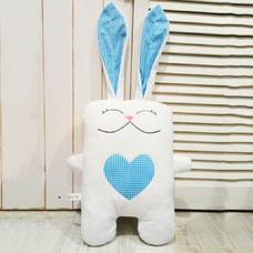 """Игрушка ручной работы """"Влюблённый заяц"""", бело-голубой"""