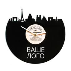 Часы из виниловой пластинки с брендированием