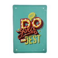 "Металлическая табличка ""Do your best"""