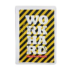 "Металлическая табличка ""Work hard"""