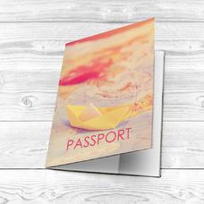 """Обложка на паспорт """"Бумажный кораблик"""""""