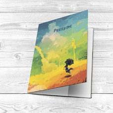 "Обложка на паспорт ""Painted sky"""