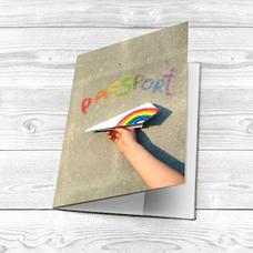 "Обложка на паспорт ""Бумажный самолётик"""
