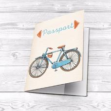"""Обложка на паспорт """"Blue bike"""""""
