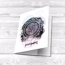 """Обложка на паспорт """"Акварельная мандала"""""""