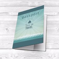 """Обложка на паспорт """"Time to travel"""""""