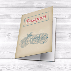 """Обложка на паспорт """"Мотоцикл"""""""