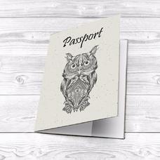 """Обложка на паспорт """"Black Owl"""""""