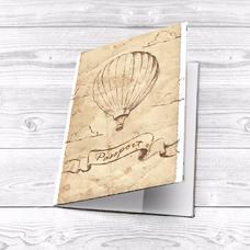 "Обложка на паспорт ""Воздушный шар. Ретро"""