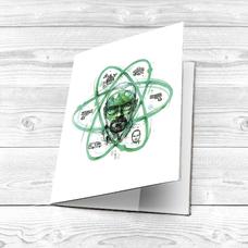 "Обложка на паспорт ""Heisenberg`s atom"""