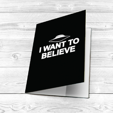 """Обложка на паспорт """" I want to believe"""""""