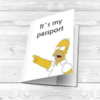 "Обложка на паспорт ""Angry Homer"""