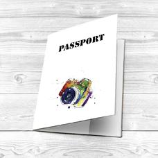 """Обложка на паспорт """"Фотоаппарат"""""""