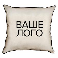 Подушка с брендированием, мешковина