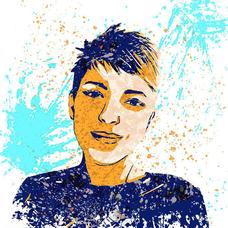 Портрет в стиле Splash Art