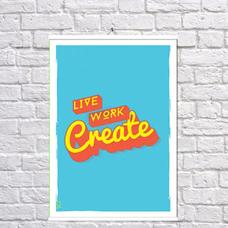 """Постер """"Создавай"""" — уценка"""