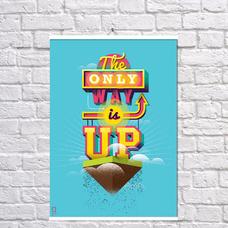 """Постер """"Единственный путь"""", винил - уценка"""