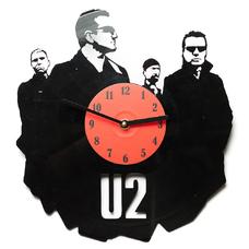 """Виниловые часы """"U2"""""""