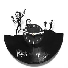 "Виниловые часы ""Rick and Morty"""