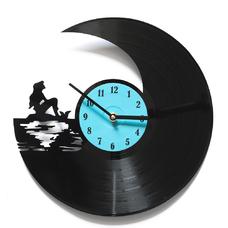 """Виниловые часы """"Русалочка"""""""