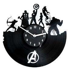 """Виниловые часы """"Супергерои"""""""