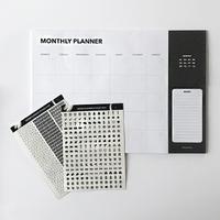 "Настольный планер на месяц ""Monthly"", черный"
