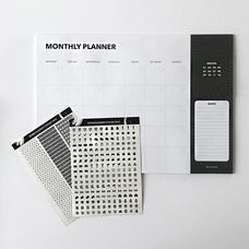 """Настольный планер """"Monthly"""", черный"""