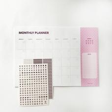 """Настольный планер """"Monthly"""", розовый"""