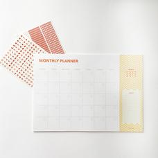 "Настольный планер на месяц ""Monthly"", желтый"