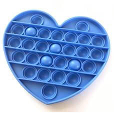 Pop It Антистресс- голубое сердце