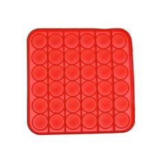 Pop It Антистресс- красный квадрат