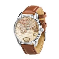 """Наручные часы """"Карта мира"""" (+запасной ремешок)"""