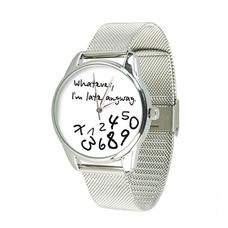 """Наручные часы из стали """"Late white"""" (+запасной ремешок)"""