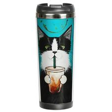 """Термокружка """"Кот со стаканом"""""""