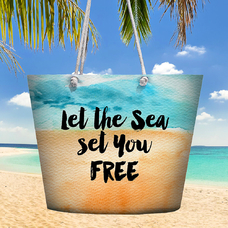 """Пляжная сумка """"Let the sea..."""""""