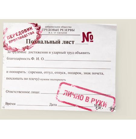 """Кубарики """"Похвальный лист"""""""