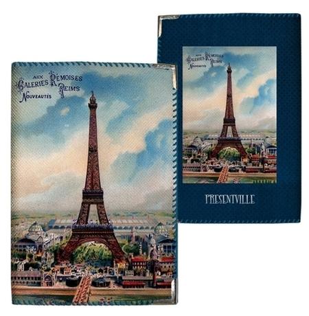 "Обложка на паспорт ""Нарисованный Париж"""