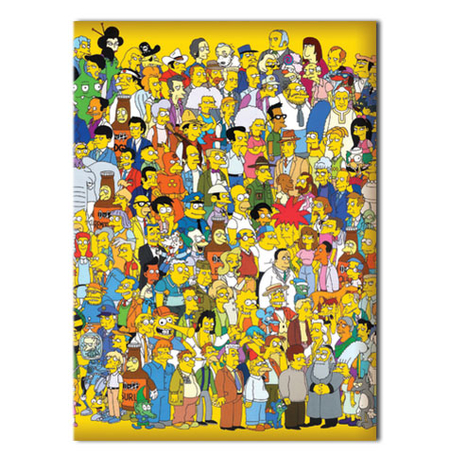 "Обложка на паспорт ""Все герои Симпсонов"""