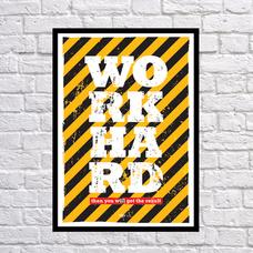 "Постер ""WORK HARD"""