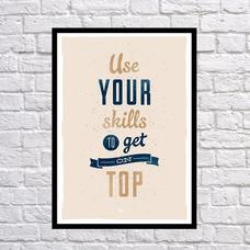 """Постер """"Используй свои навыки"""""""