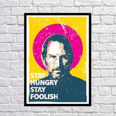 """Постер """"Оставайся голодным, оставайся безрассудным"""""""
