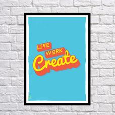 "Постер ""Создавай"""