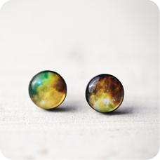 Серьги Nebula Green
