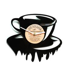 """Виниловые часы """"Чашка чая/кофе!"""""""