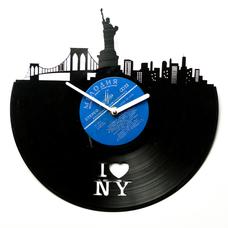 """Виниловые часы """"I love NY"""""""