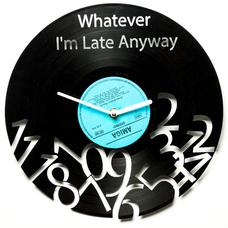 """Виниловые часы """"Whatever"""""""