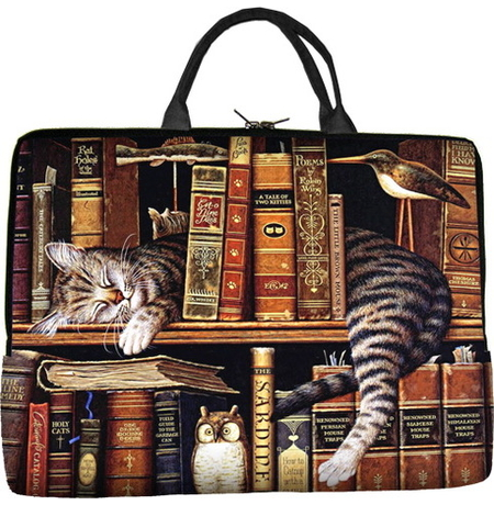 """Сумка для ноутбука """"Спящий кот"""""""