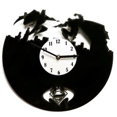 """Виниловые часы """"SupermanVSBatman"""""""