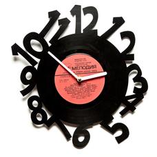 """Виниловые часы """"По часовой"""""""