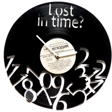 "Виниловые часы ""Lost in time"""